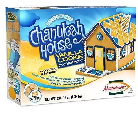 Manischewitz Do it yourself Chanukah House Vanilla Cookie Decorating Kit 1330G