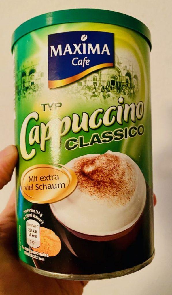 Maxima Cafe Typ Cappuccino mit extra viel Schaum Runddose