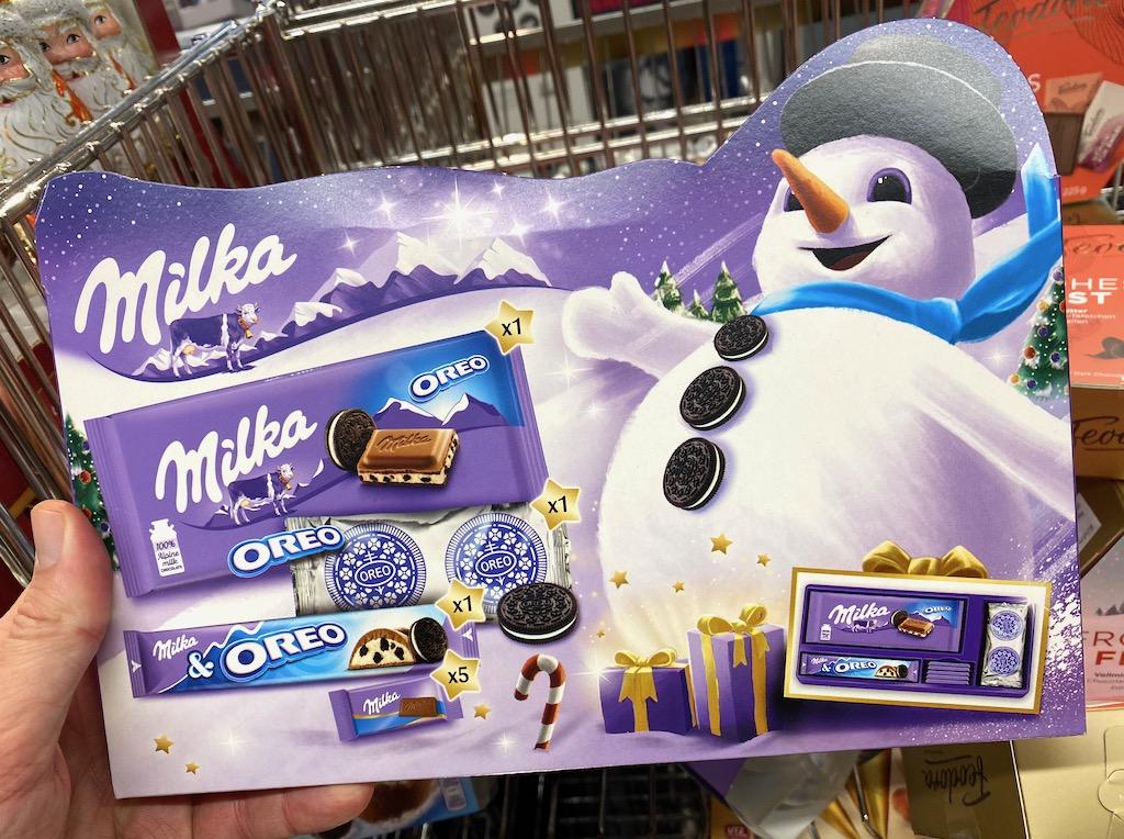 Milka Oreo Weihnachts-Set Schneemann