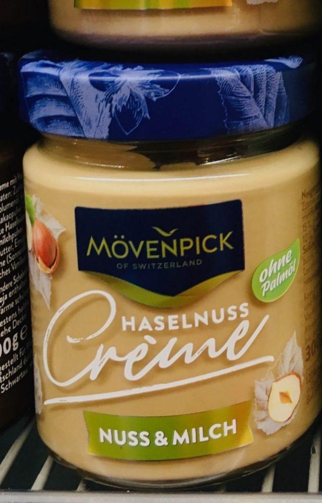 Mövenpick Haselnuss-Creme Nuss+Milch ohne Palmöl