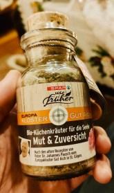 Spar Österreich Wie Früher Europa Kloster Gut Aich Bio-Küchenkräuter fr die Seele Mut+Zuversicht in Glasflasche