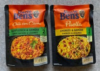Uncle Ben's Reisgericht für die Mikrowelle Chili con Carne-Paella mit Chorizo 250G