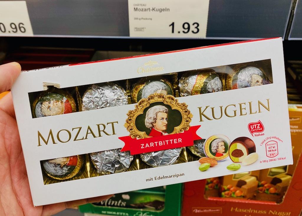 Aldi Chateau Mozart-Kugeln Zartbitter mit Edelmarzipan 200G