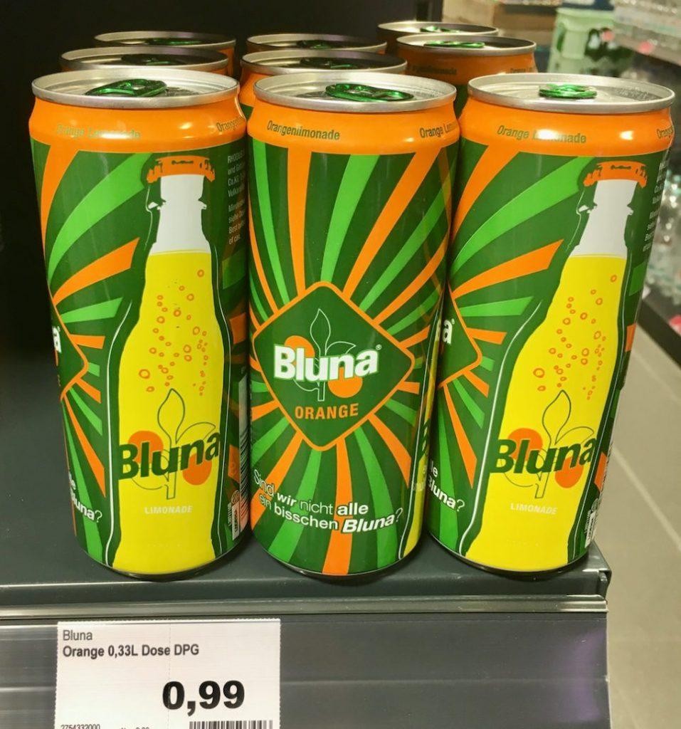 Bluna Orange 330ML Getränkedose