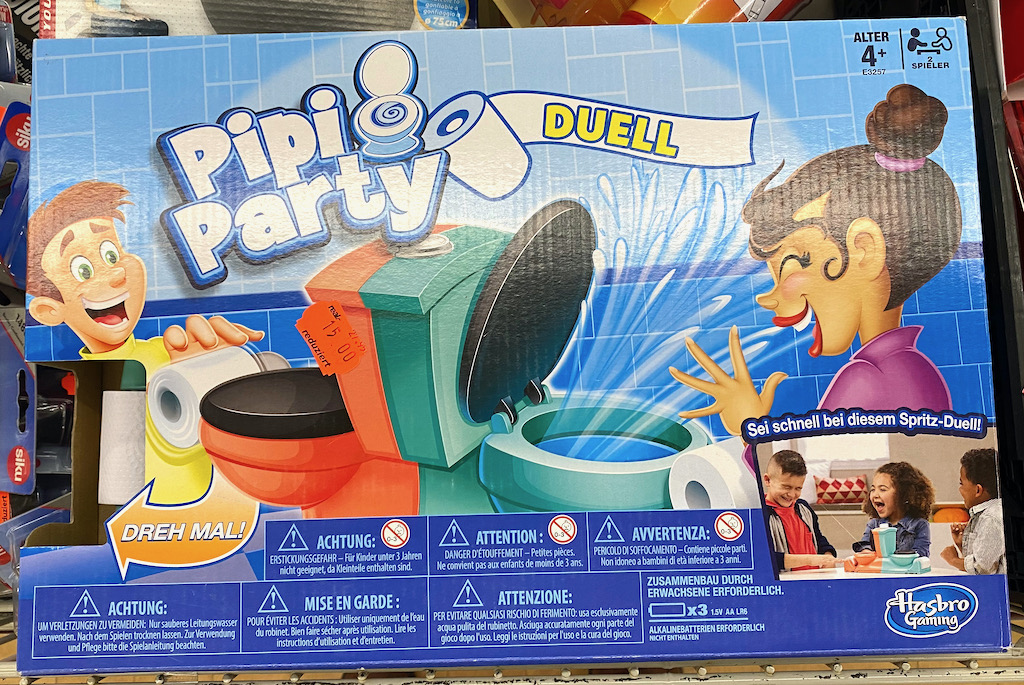 Brettspiel Pipi Party Duell