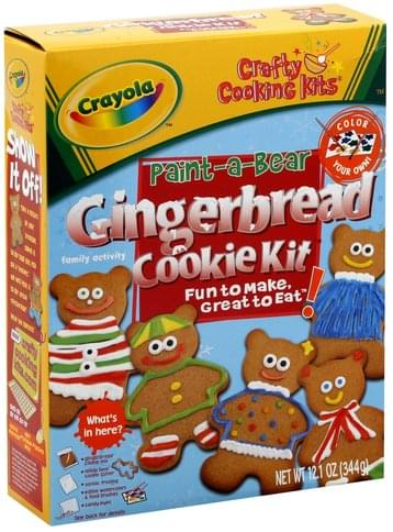 Crayola Craft Cooking Kits Paint a Bear Gingerbread Cookie Kit 340G