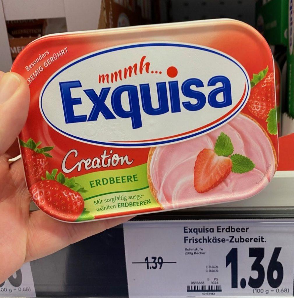 Exquisa Creation Erdbeere Frischkäse