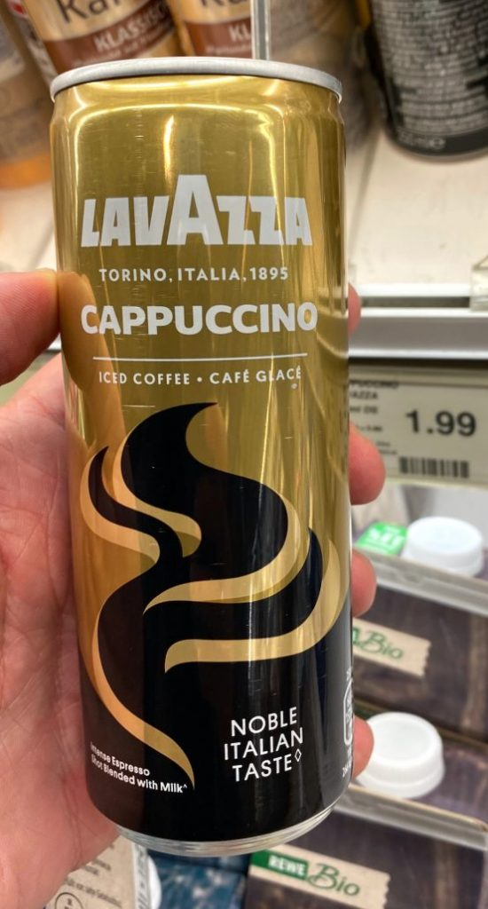 Lavazza Cappuccino Iced Coffee Noble Italian Taste Dose