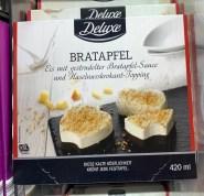 Lidl Deluxe Bratapfel Eis mit gestrudelter Bratapfel-Sauce und Haselnusskrokant-Topping 420ml