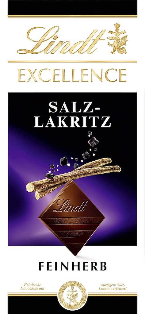 Lindt Excellence Salz-Lakritz Feinherb