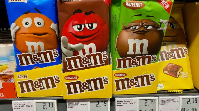 Mars M+M Tafelschokolade Crispy-Schokolade-Haselnuss-Erdnuss