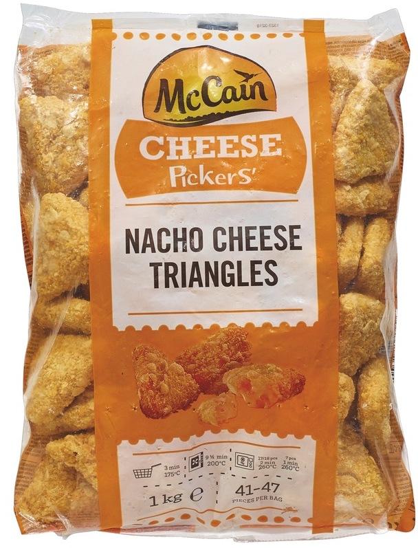 McCain , Nacho Cheese Triangles TK 1kg ,  ,