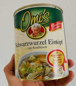Omi's Schwarzwurzel-Eintopf mit Rindfleisch Eintopf Konservendose