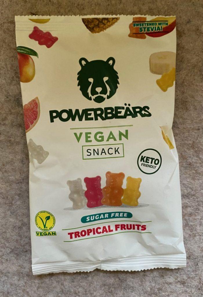 Powerbeärs Vegan Snack Sugar Free Tropical Fruits