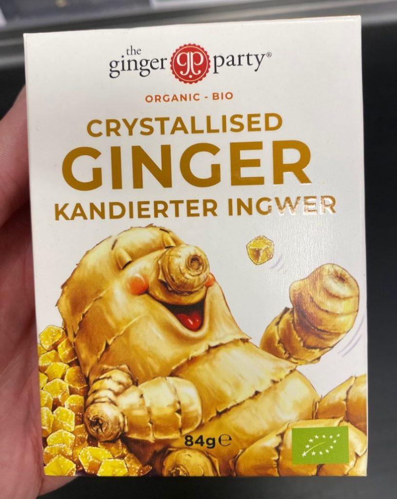 Ginger Party Crystallised Ginger Kandierter Ingwer 84G