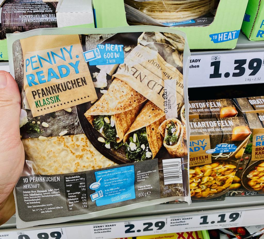 Penny Ready Pfannkuchen Klassik 10 gekühlte Pfannkuchen 600G