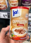 Rewe Ja! Typ Cappuccino classic Nutri-Score 20G Dose