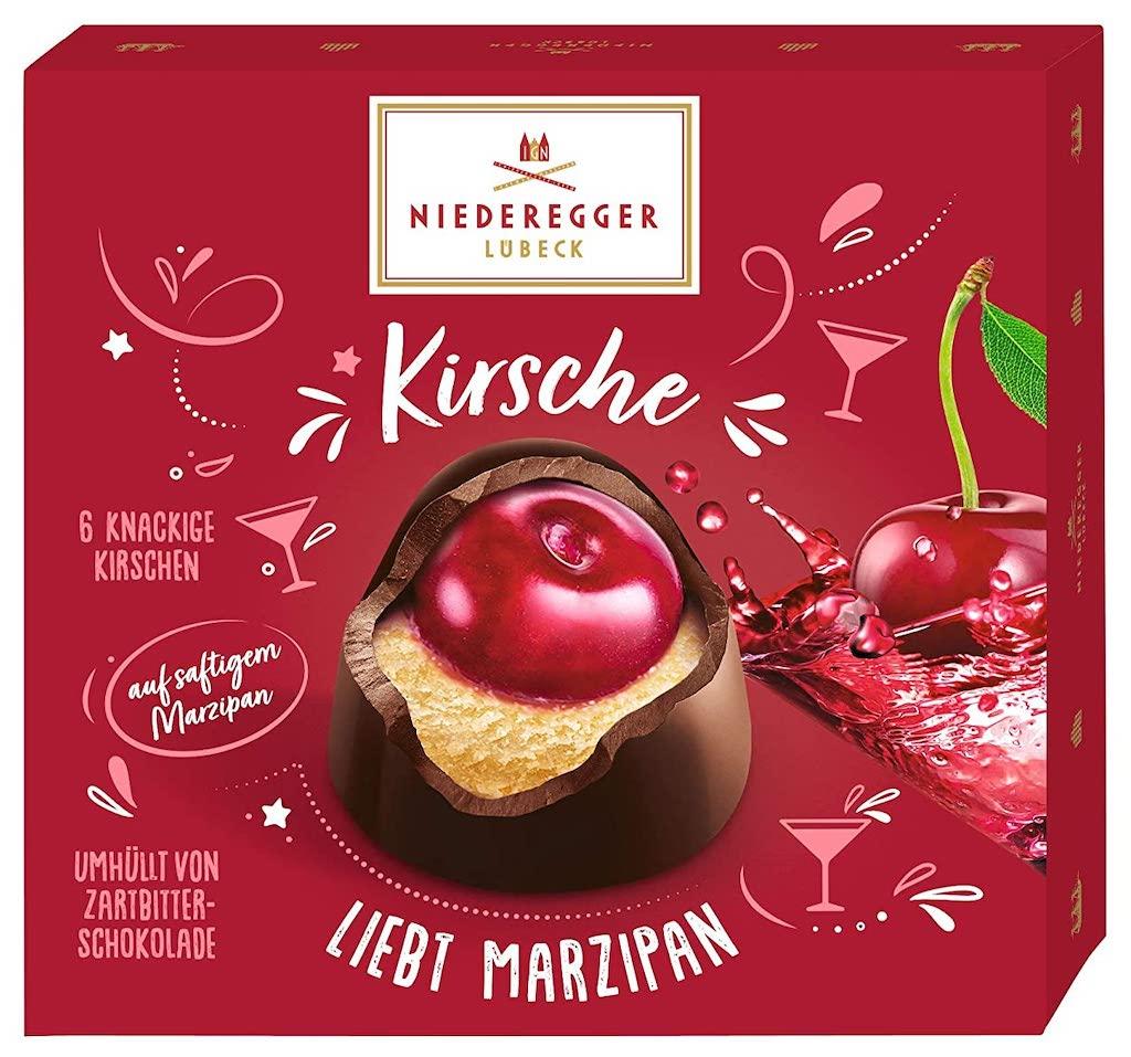 Niederegger Kirsche liebt Marzipan mit Schwarzwälder Kirschwasser 6er