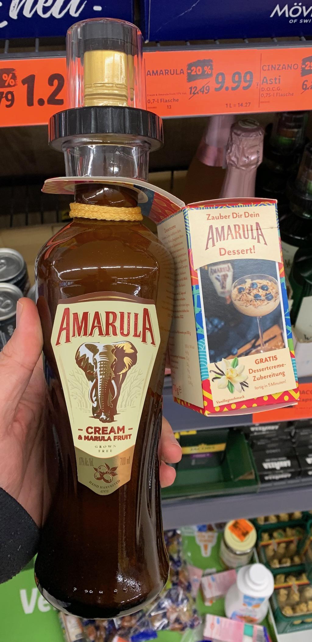 Amarula mit Gratis-Dessertzubereitung