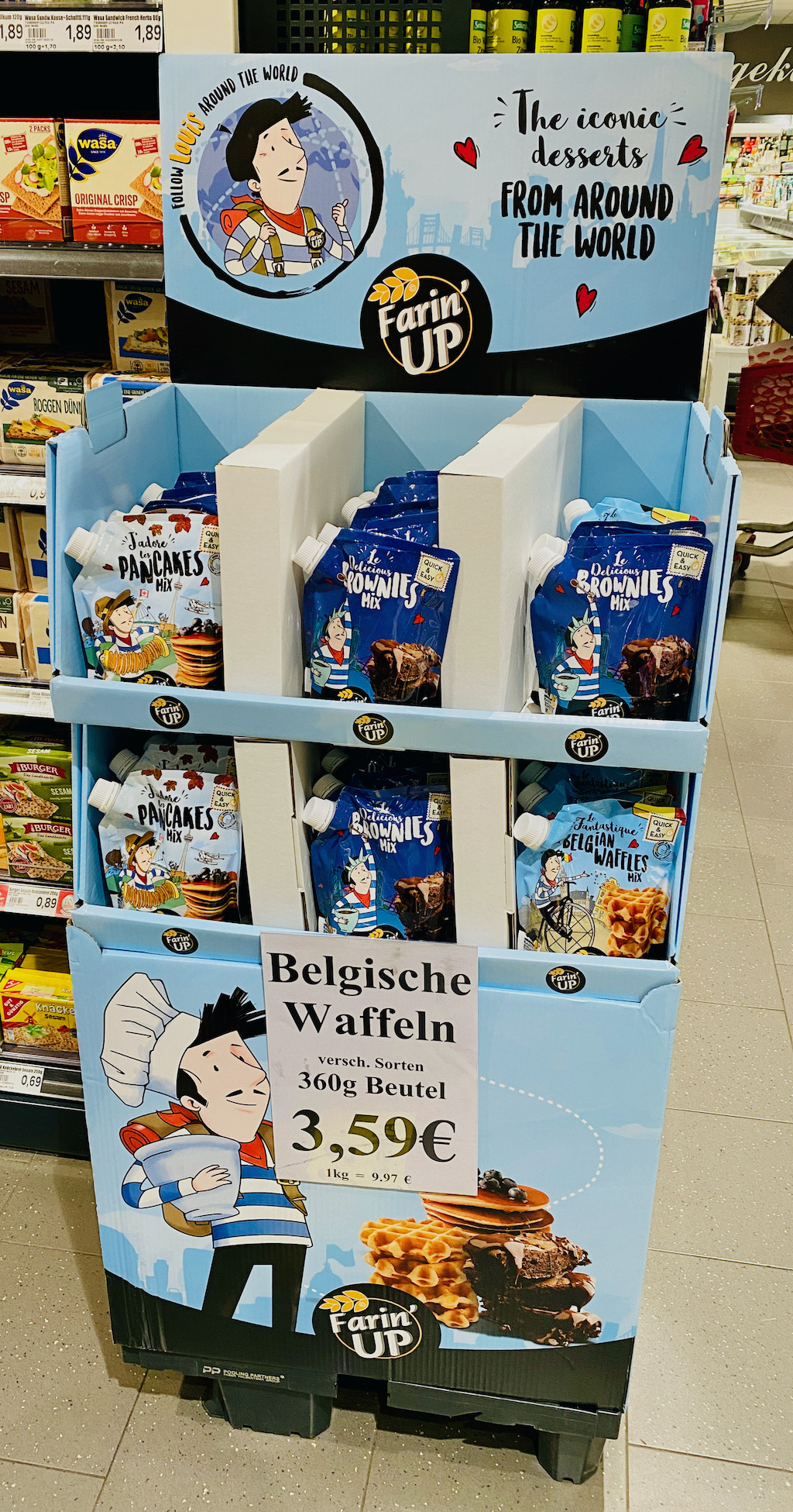 Genuport Farin up Fertigteige Pancakes-Brownies-Belgische Waffeln