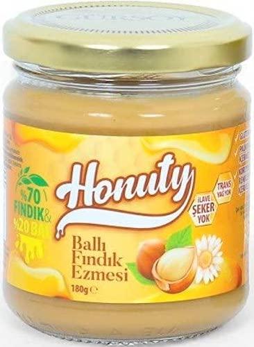 Honuty Honig mit Haselnusscreme 180G