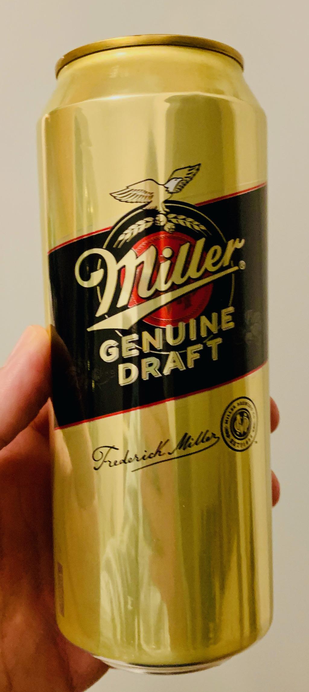 Miller Genuine Draft Bierdose Gold