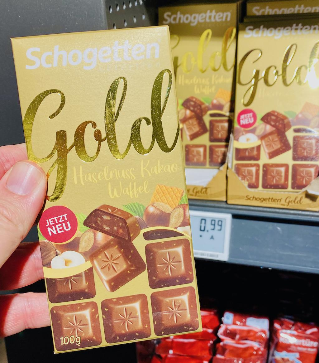 Schogetten Selection Gold Haselnuss-Kakao-Waffel 100G