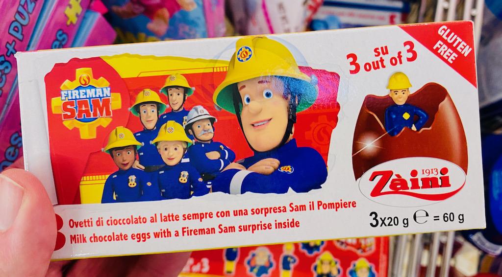 Zaini Fireman Sam Überraschungseier mit Schokolade 3x20G