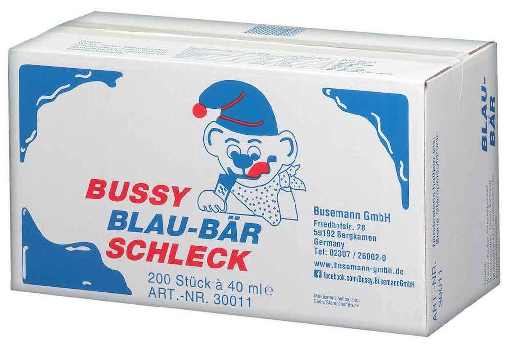 Busemann Bussy Blaubär Schleck Wassereis 200x40ml