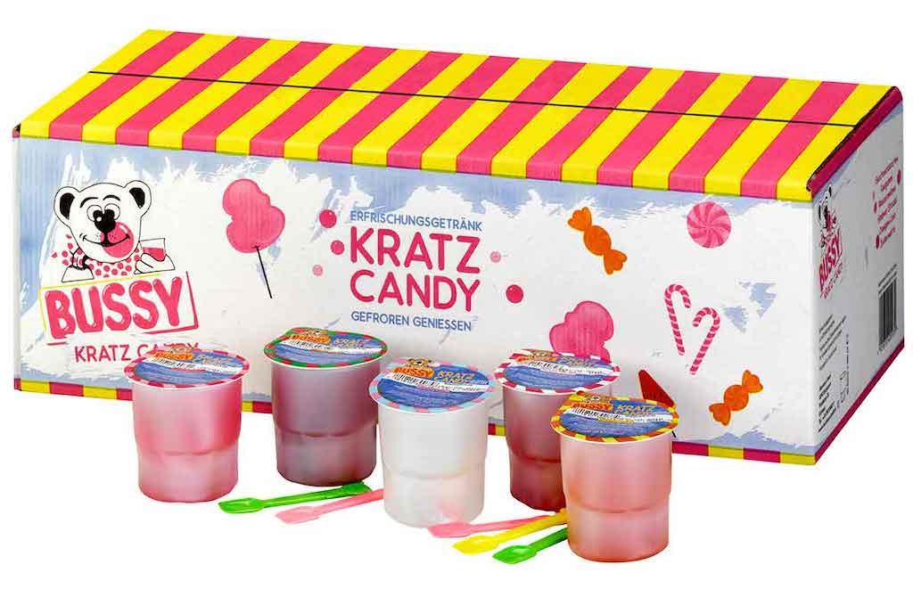 Busemann Bussy Kratzeis Kratz Candy mit Löffeln 40x200ml