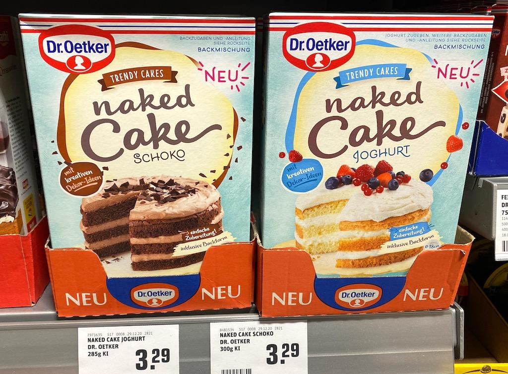 Dr Oetker Trendy Cakes naked Cake Schoko+Joghurt Backmischung