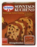 Dr. Oetker_1971_Erstes Backmischung Sonntagskuchen Königskuchen