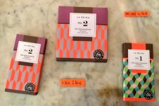 La Reina No. 1 und 2 Milchschokolade aus Panama, Tafeln