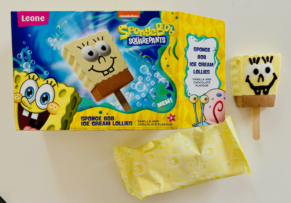 Leone Nickelodeon Spongebob Squarepants Ice Cream Lollies 4er