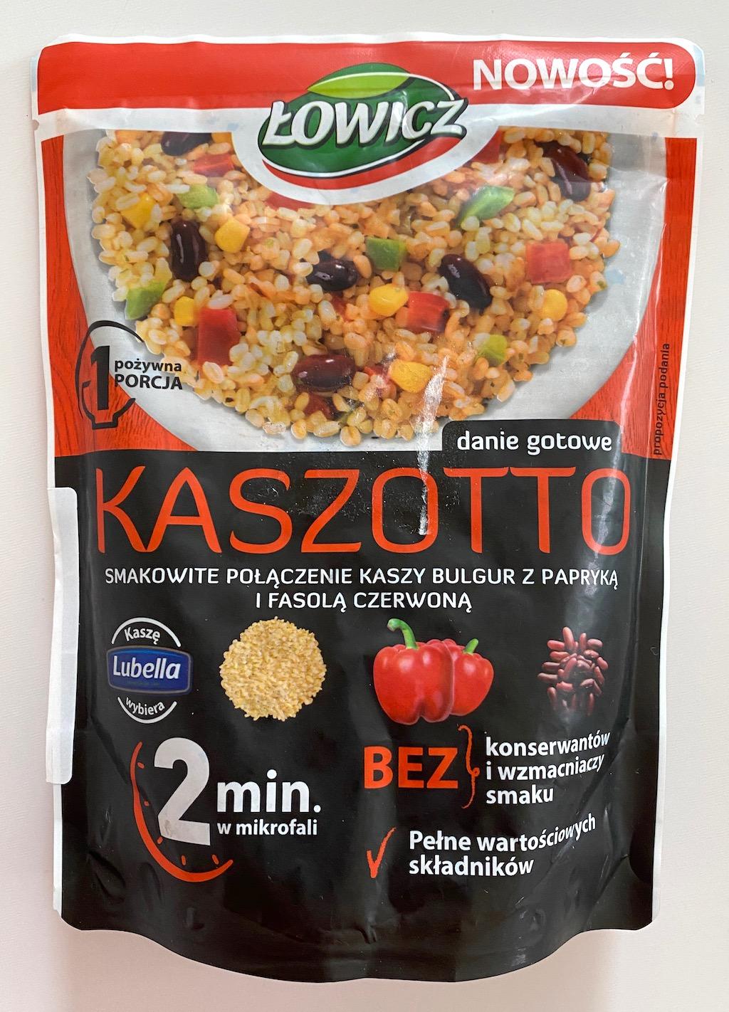 Lowicz Kaszotto mit Mikrowellenreis mit Paprika und Bohnen