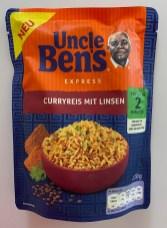 Mars Uncle Ben's Express Curryreis mit Linsen 220G