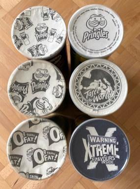 Pringles Laschen schwarz-weiß