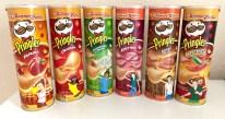 Pringles Summer Parties Paprika-Original-Sour Cream+Onion-Roast Ham-Roast Beef-Hot+Spicy Gezeichnete Menschen 2018