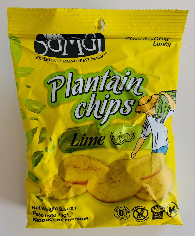Samai Plantain Chips Lime Kochbananenchips 70G