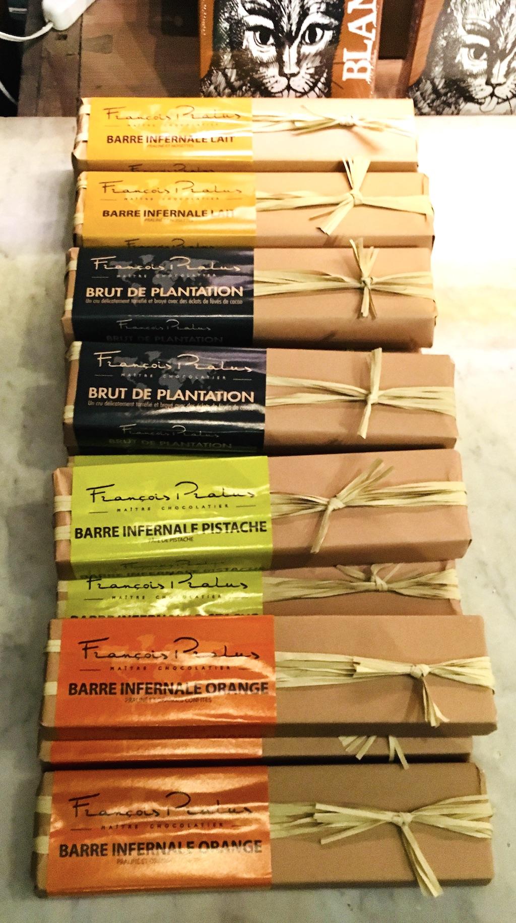 Schokoladenbarren von Francois Pralus im Winterfeldt-Café