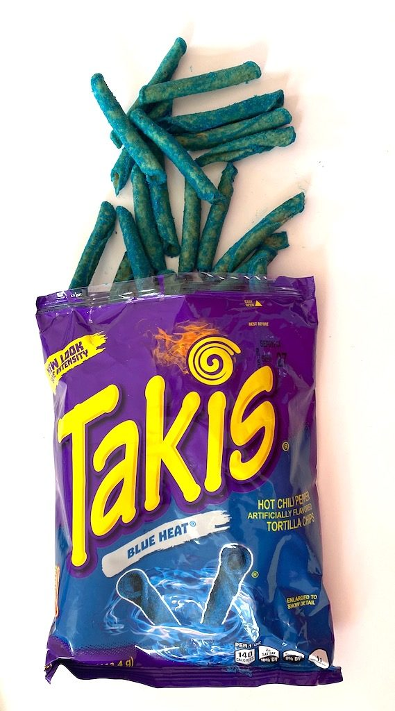 Takis Blue Heat offen