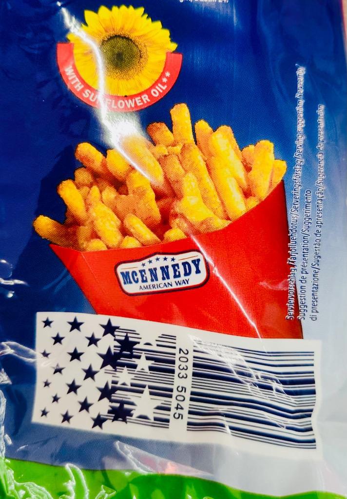 Lidl Mcennedy Pommes-Chips Strichcode mit Sternen