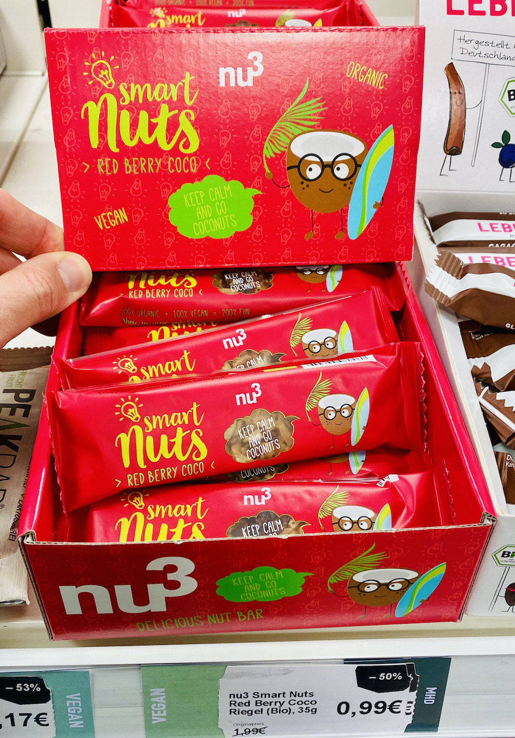 Nu3 Smart Nuts Riegel Red Berry Coco
