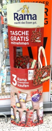 Rama Gratis-Tasche bei 3 Rama Cremefine