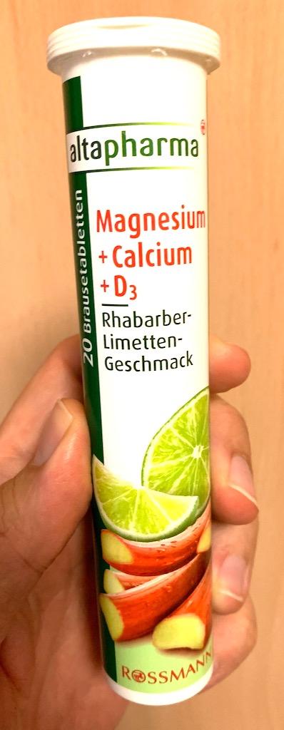 Rossmann altapharma Magnesium+Calcium+D3 Brausetabletten Rhabarber-Limette