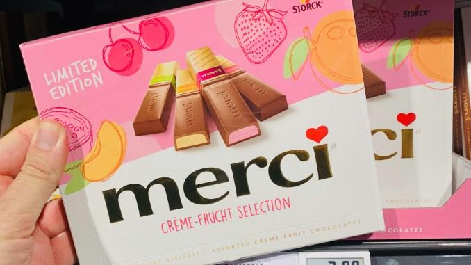 Storck Merci Limited Edition Créme-Frucht Selection Kirsch-Erdbeere-Pfirsich