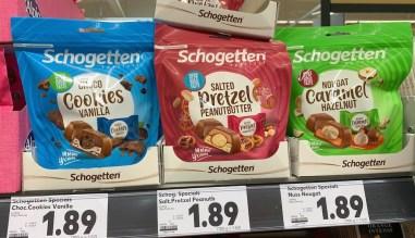 Trumpf Schogetten Specials Choco Cookies Vanilla-Salted Pretzel Peanutbutter-Nuss Nougat 125G