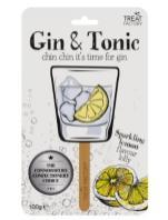 """Ein Lolli mit der Geschmacksrichtung """"Gin & Tonic"""" von Treat Factory (100 Gramm)"""