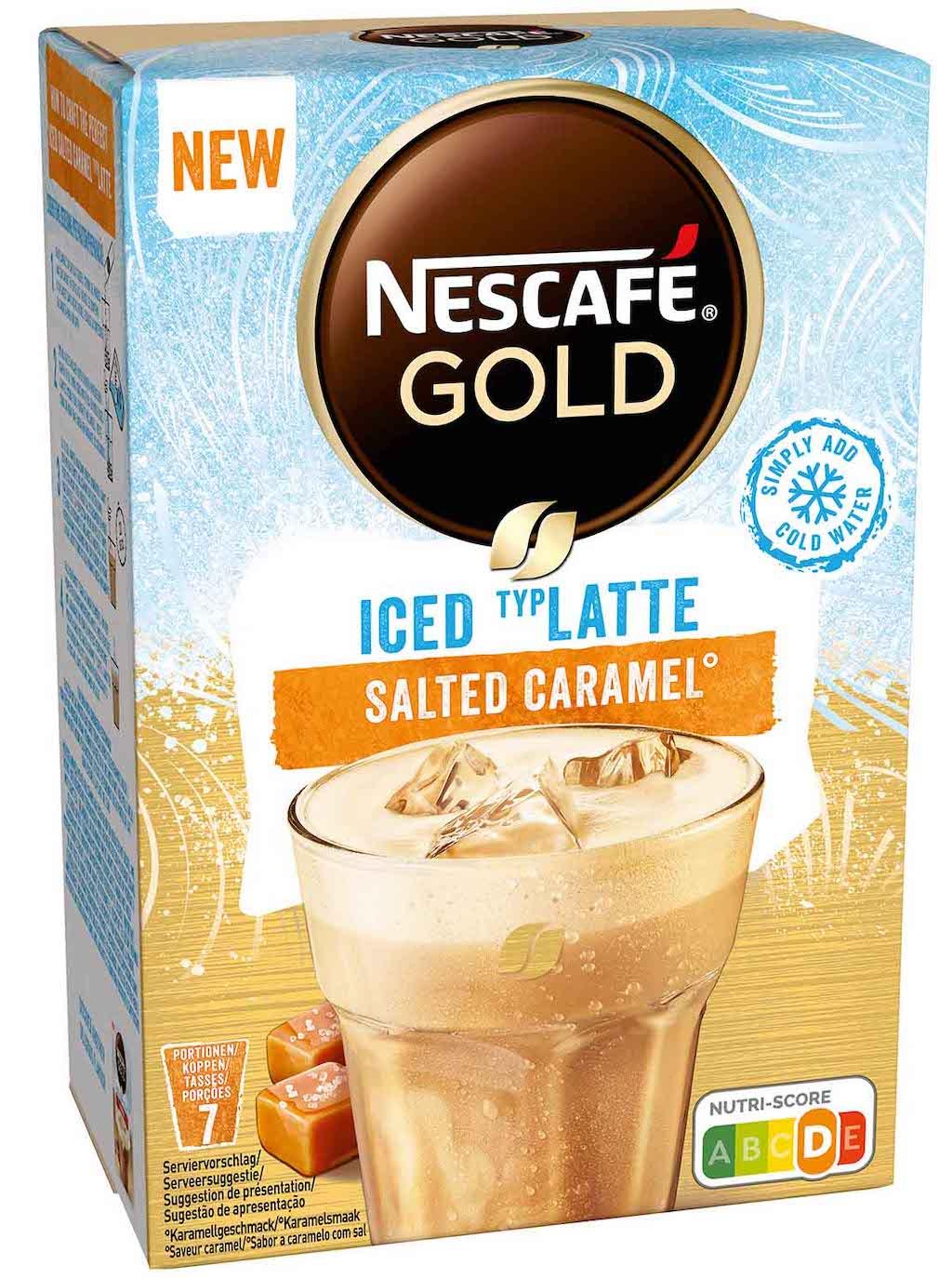 Nestlé Nescafe Gold Iced Latte Salted Caramel 7er