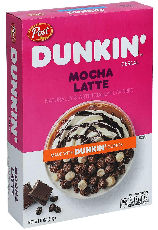 Post Dunkin Cereal Mocha Latte 311g